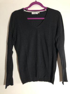 Basic Pullover schwarz mit V-Ausschnitt, Gr. M, Yessica basic C&A