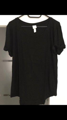 H&M Basic Ribbed Shirt black