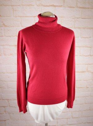 Basic Rollkragen Pullover Feinstrick Gina Benotti Größe S 36 38 Rot Kirschrot Strickpullover Pulli