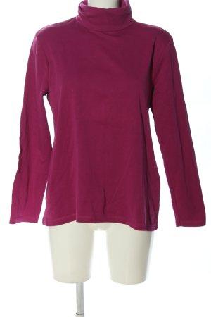 Basic Colshirt roze casual uitstraling