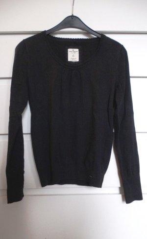 basic Rundhals Pullover von TOM TAILOR schwarz 36/38