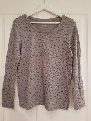 Primark V-Neck Shirt grey-grey brown