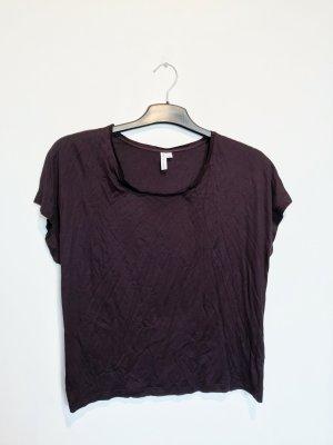 & other stories T-shirt brązowo-fioletowy Wiskoza