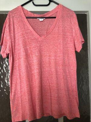 Forever 21 T-shirt col en V rouge clair-rose