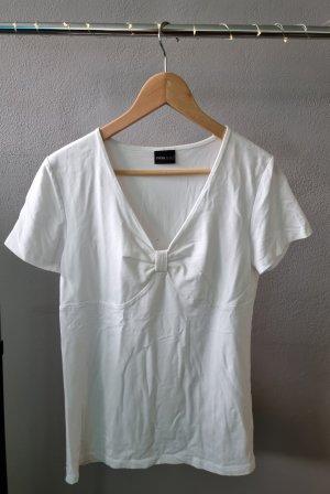 Basic Shirt Basicshirt T-Shirt weiß Schleife K&L Ruppert