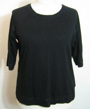 Basic Shirt Größe 48 Schwarz Uni