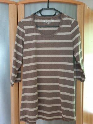 Basic Shirt in dreiviertel Arm braun