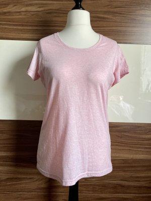Basic-Shirt in Rosa meliert von Janina
