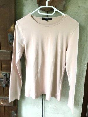Basic Shirt Langarm Größe M (38-40) rosé-beige