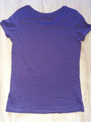Basic Shirt Lila Kaum angehabt Baumwolle 38 + 36-38 Grundstoff Stanley & Stella