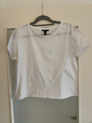 Mango Camisa recortada blanco