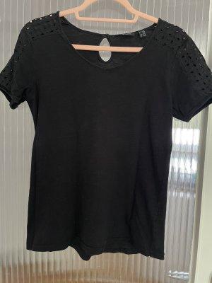 Basic Shirt mit Lochmuster