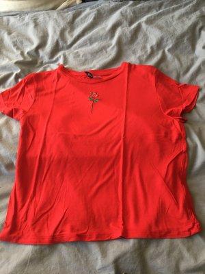 Basic Shirt mit Rosenstickerei