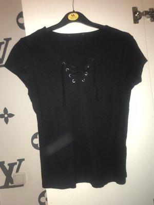 basic shirt mit schnüre