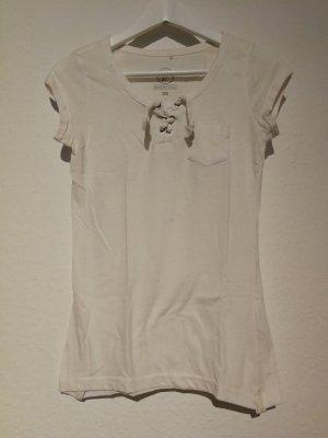Basic Shirt mit Schnüren