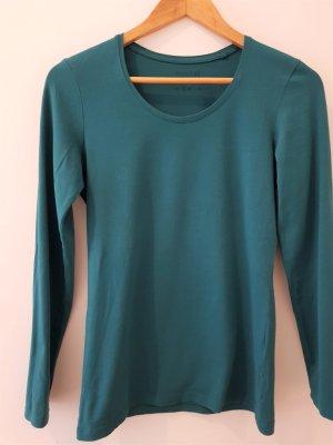 Basic Shirt petrolfarben