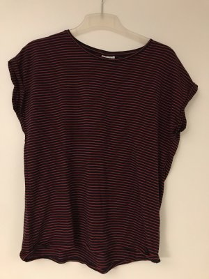 Basic Shirt rot/Schwarz gestreift Gr.M