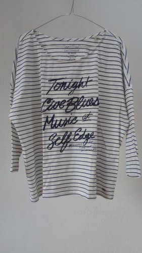 Basic Shirt Streifen 3/4 blau weiß