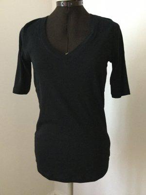 Basic-Shirt V-Ausschnitt Halbarm UZWEI L