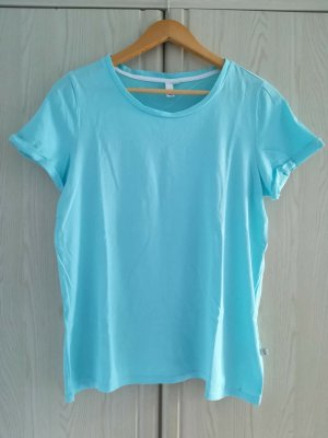QS by s.Oliver Basic Shirt light blue cotton