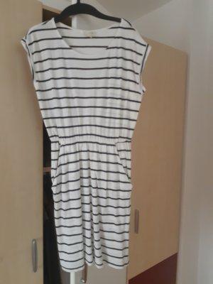 Basic Sommerkleid von H&M, gestreiftes Jerseykleid