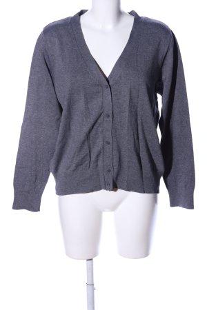Basic Giacca in maglia grigio chiaro puntinato stile casual