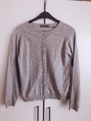 Zara Smanicato lavorato a maglia grigio chiaro