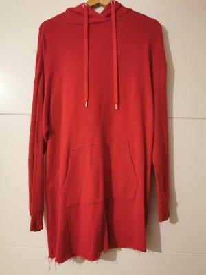H&M Basic Sweatshirt met capuchon rood