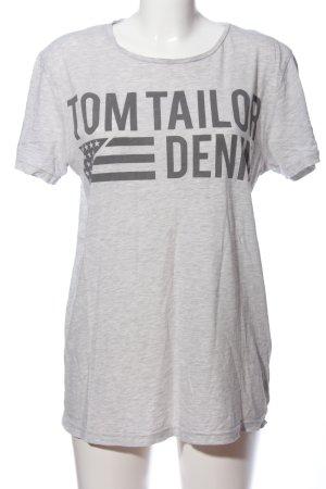 Basic T-shirt grigio chiaro puntinato stile casual