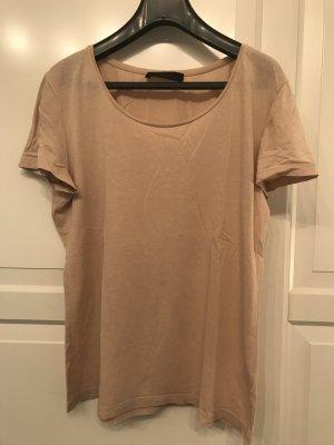 Hallhuber T-Shirt beige-cream cotton