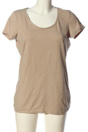 Basic T-shirt w kolorze białej wełny W stylu casual