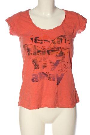 Basic T-shirt rouge imprimé avec thème style décontracté
