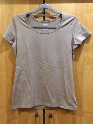 Basic T-Shirt beige Rundhalsausschnitt, esmara, Gr. L