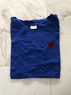 Only T-shirt niebieski-ciemnoczerwony