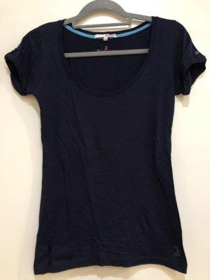 Basic T-Shirt dunkelblau, Gr. S 36, Tally Weijl