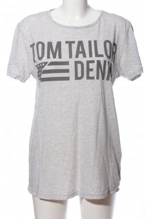 Basic T-Shirt hellgrau meliert Casual-Look