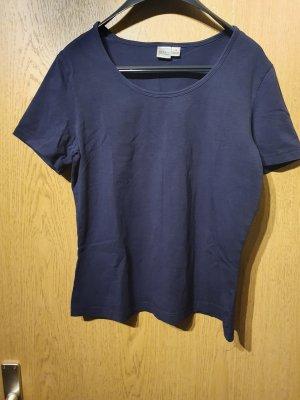 Basic T-Shirt in dunkelblau Größe 36/38