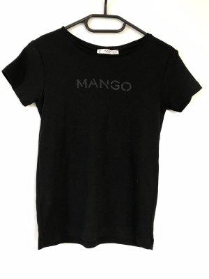 Basic T-Shirt Mango schwarz
