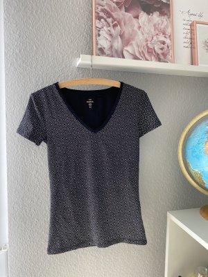 C&A V-Neck Shirt black-white