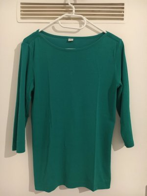 Basic T-Shirt, S. Oliver, 3/4 Arm, Grün, Größe L