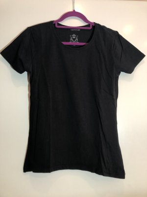 Basic T-Shirt schwarz, Gr. XL, Outfit fashion