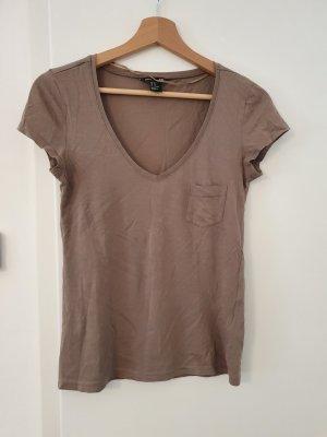 Basic T-Shirt V-Ausschnitt Größe XS
