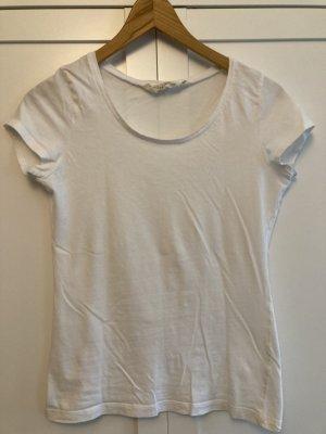 Basic T-Shirt von H&M L.O.G.G. weiß Gr. S Rundhals-Ausschnitt
