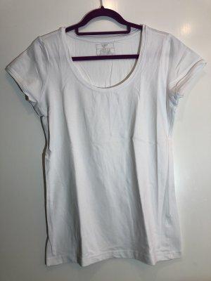 Basic T-Shirt weiß, Gr. 42, okay