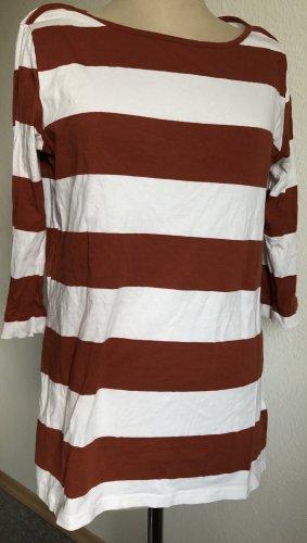Takko Basic topje wit-roodbruin