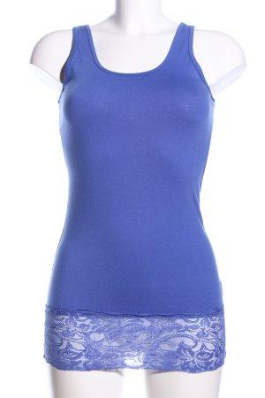 Basic Top blue flower pattern elegant