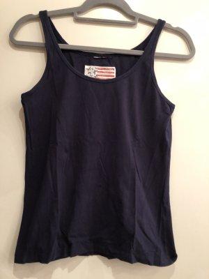 Basic Top dunkelblau, Gr. S, Outfit Fashion