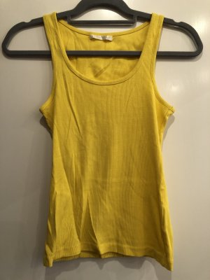 Basic Top gelb gerippt, Gr. S, Fishbone