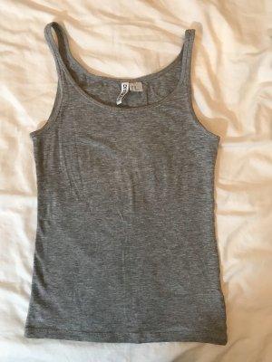 H&M Basic Top light grey-grey