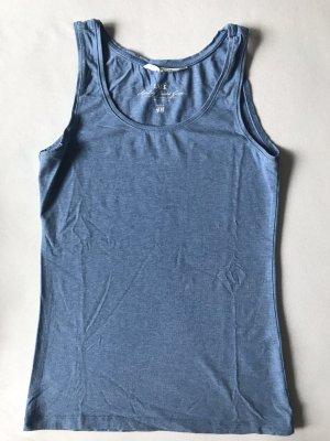 H&M Basic topje staalblauw-korenblauw